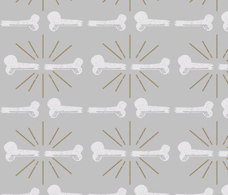 Bonafide Broken Bone Stripes Grey fabric by verstacie on Spoonflower - custom fabric