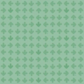 Tumbling Green Arrows