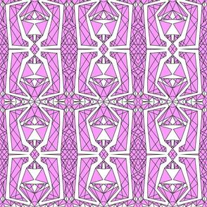 Art Deco Glass- Pink