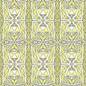 Art Deco Glass- Yellow