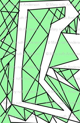 Art Deco Glass- Green