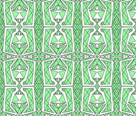 Art Deco Glass- Green fabric by essieofwho on Spoonflower - custom fabric