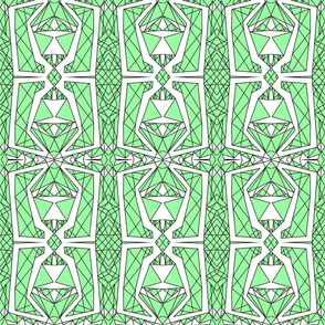 Art Deco Glass- Green