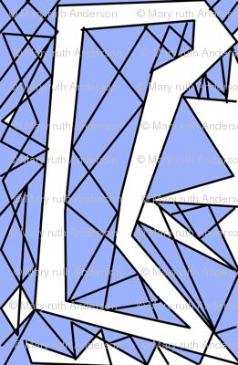 Art Deco Glass- Blue