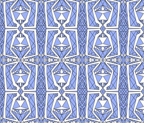 Art Deco Glass- Blue fabric by essieofwho on Spoonflower - custom fabric