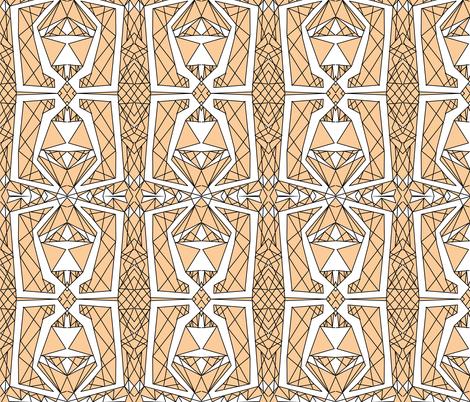Art Deco Glass- Peach fabric by essieofwho on Spoonflower - custom fabric