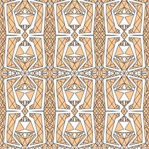 Art Deco Glass- Peach