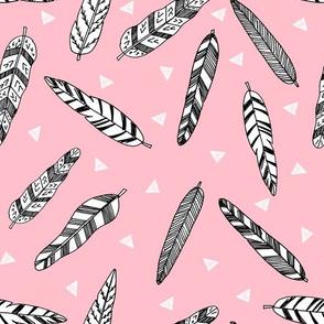 feathers fabric // nursery baby southwest nursery boho design - pink