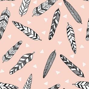 feathers fabric // nursery baby southwest nursery boho design - blush