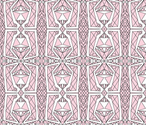 Art Deco Glass- Light Pink fabric by essieofwho on Spoonflower - custom fabric