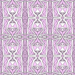 Art Deco Glass- Lavender