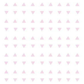 Tiny Triangles - White/Pretty Pink
