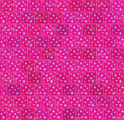 Hexagons Hot Pink Upholstery Fabric