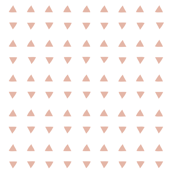 Tiny Triangles - White Deco Coral