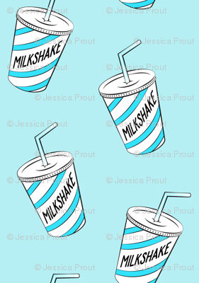 milkshake - blue on blue
