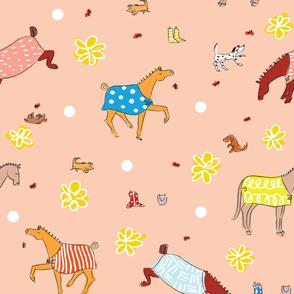 Playful Ponies Wallpaper