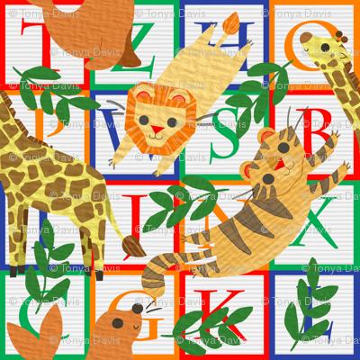 circus animal blocks