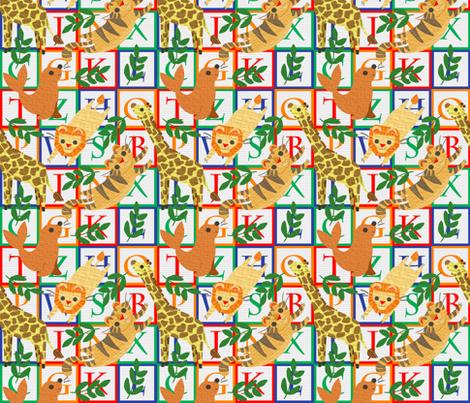 circus animal blocks fabric by chunkycatt on Spoonflower - custom fabric