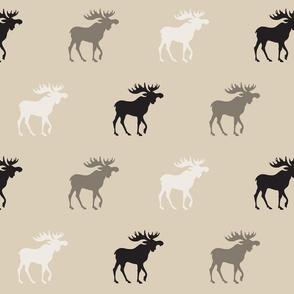 Big Moose - tan, brown, taupe, grey - Rustic Woodland-ch