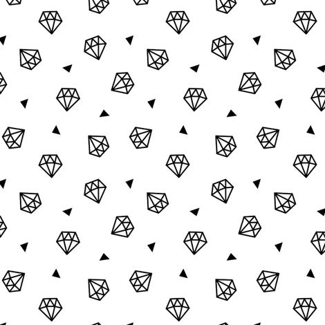 Diamonds fabric by kimsa on Spoonflower - custom fabric