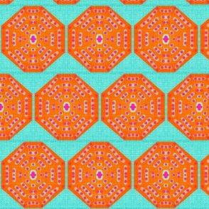 Juice Drop Buttons-large-orange& light aqua