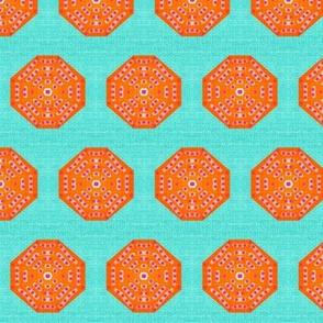 Juice Drop Buttons-med-orange& light aqua