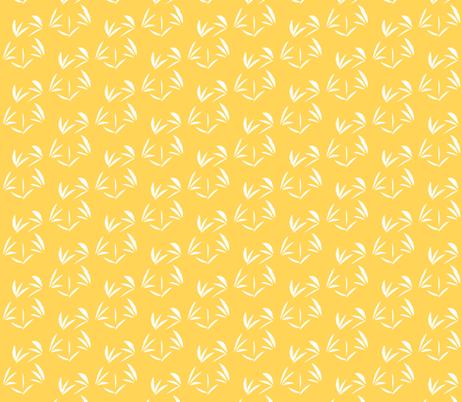Snowy White Oriental Tussocks on Orange Fizz - Small Scale fabric by rhondadesigns on Spoonflower - custom fabric