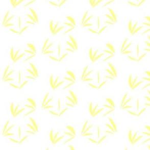 Sunbeam Yellow Oriental Tussocks on Snowy White