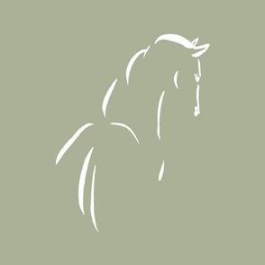 horse, INDIGO, white, green