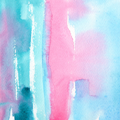 Turquoise watercolor love