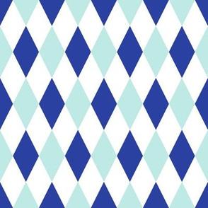 Alphabet Circus Harlequin (blue)