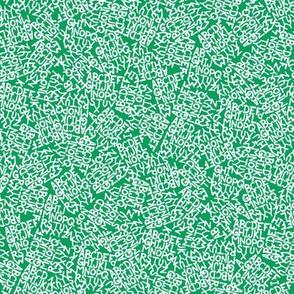 Alphabet Chaos - White on Green