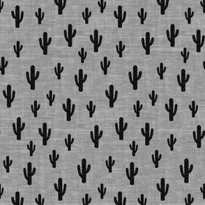 Cactus - Black Gray Texture - small
