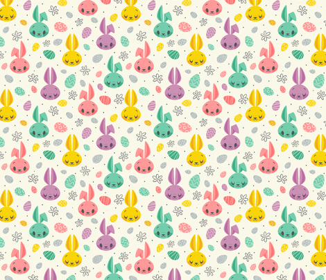 Easter Bunnies fabric by therewillbecute on Spoonflower - custom fabric