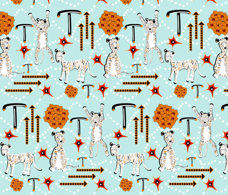 T is for Tiger! fabric by gracelillydesigns on Spoonflower - custom fabric