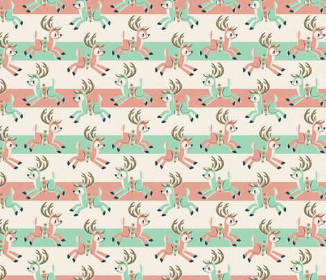 Candy Cane Reindeer fabric by therewillbecute on Spoonflower - custom fabric