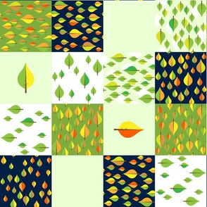 leaves cheater quilt