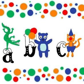 Circus Alphabet Frieze