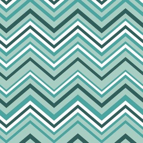 Mint Green Chevrons