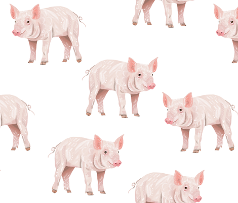 Piggies - Larger Scale fabric by taraput on Spoonflower - custom fabric