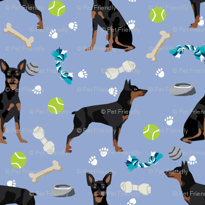 min pin dog toys fabric miniature pinscher dog toys design - periwinkle