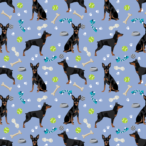 min pin dog toys fabric miniature pinscher dog toys design - periwinkle fabric by petfriendly on Spoonflower - custom fabric