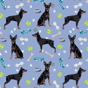 min pin dog toys fabric miniature pinscher dog toys design - periwinkle
