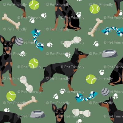 min pin dog toys fabric miniature pinscher dog toys design - medium green