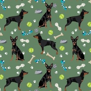 min pin dog toys fabric miniature pinscher dog toys design - medium green