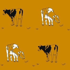 Mustard Gold Cows