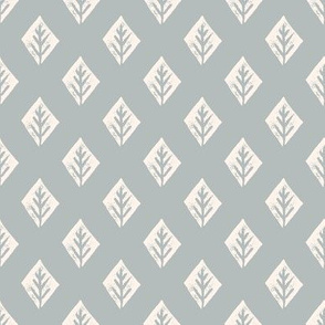 diamond fabric // safari mudcloth linocut design champagne/grey