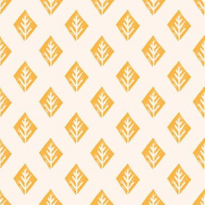diamond fabric // safari mudcloth linocut design champagne/turmeric yellow