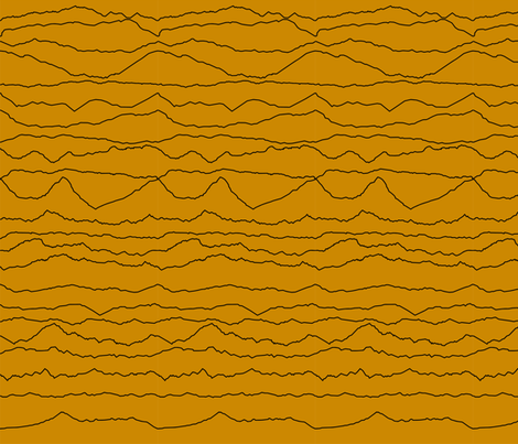 Mustard Mountain Ranges fabric by pennyroyal on Spoonflower - custom fabric