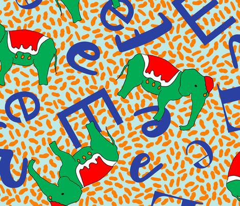 E is for Elephants fabric by annelafollette on Spoonflower - custom fabric